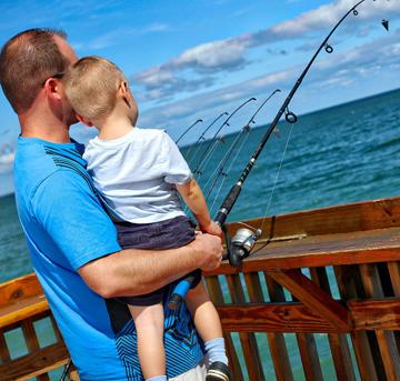 Sunglow Resort Fishing Off the Pier